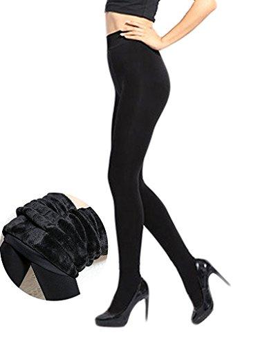 47d72fa36aaf Romastory Women's Winter Warm Pantyhose Tights Elastic Fleece Lined ...
